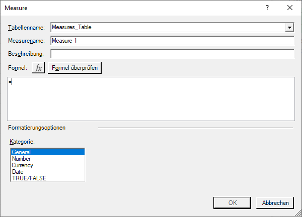 Neues Measures in Power Pivot in Excel