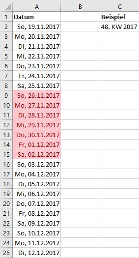 Heute Kalenderwoche