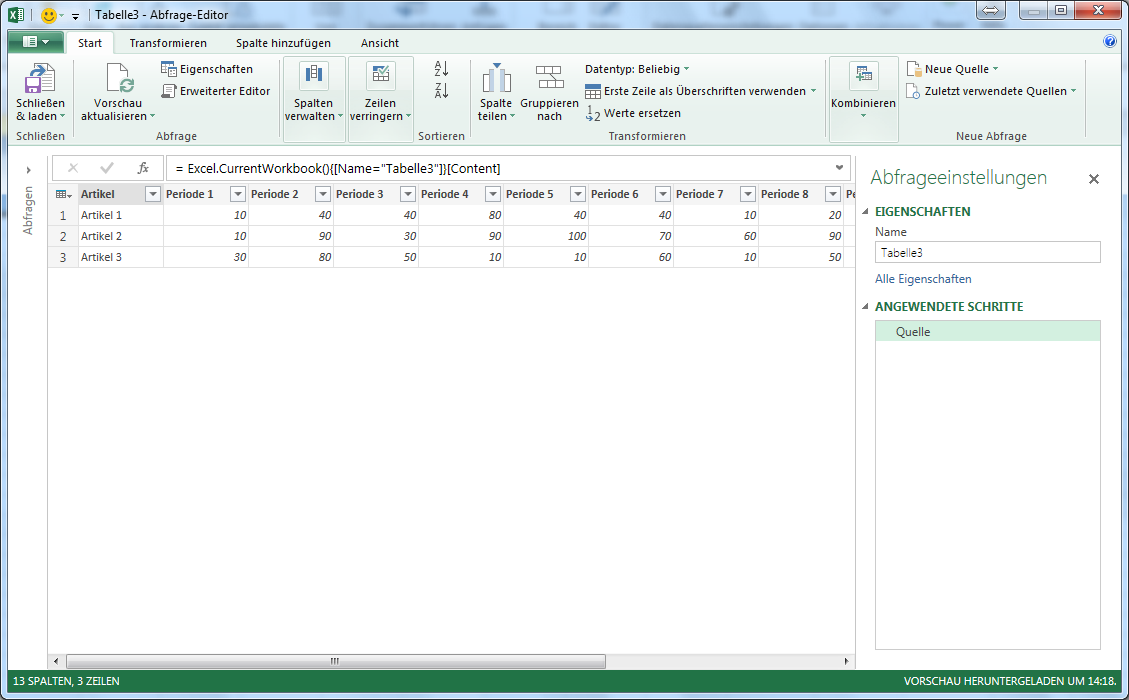 Tabelle mit Power Query in Excel umstellen | IT-Service Ruhr