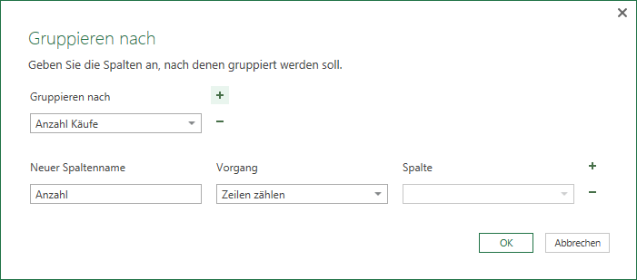 Gruppieren in Power Query