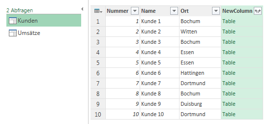 neue Spalte in Power Query