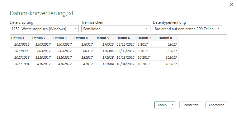 Importassistent Power Query