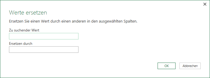 Werte ersetzen in Power Query