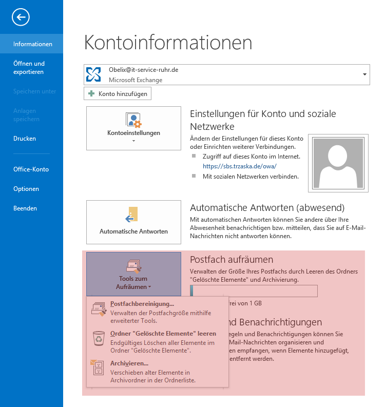 Outlook AutoArchivierung Alle Ordner