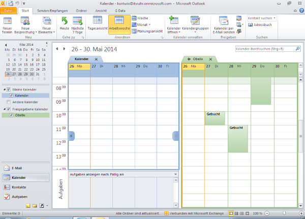 Kalender in Outlook freigeben