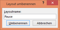 Layout in PowerPoint umbenennen