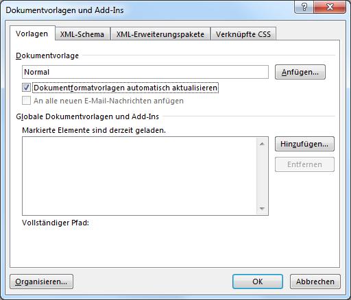 Dokument mit einer anderen Dokumentvorlage verbinden | IT-Service Ruhr