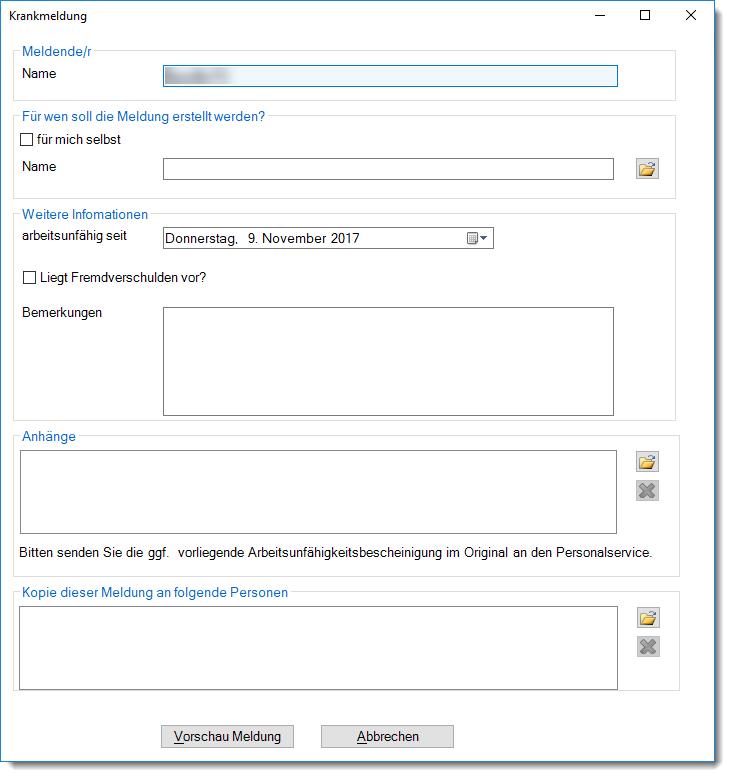 Outlook-Programmierung - ein übersichtliches Formular hilft