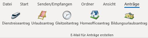 Über individuelles Menüband kann die Outlook-Programmierung aufgerufen werden.