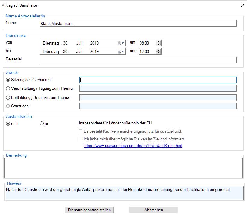 Outlook-AddIn mit übersichtlichem Dialog