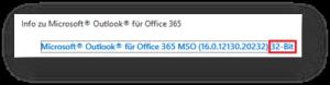 Outlook-Version 32-Bit