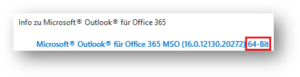 Outlook-Version 64-bit