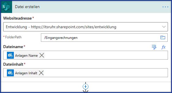 Neue Datei in Dokumentbibliothek erstellen