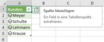 Spalte aus Excel-Datentyp abrufen